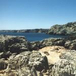 Klippen in der Nähe vom Praia da Ingrinja