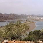 Zusammenfluss von Rio Arade und Rio Odeluca