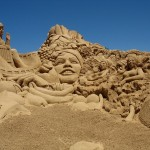 "Sandskulpturenfestival in Armação de Pêra - Thema 2008 ""Hollywood"""