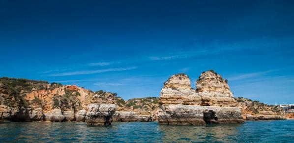 Die Ponta da Piedade von der Seeseite